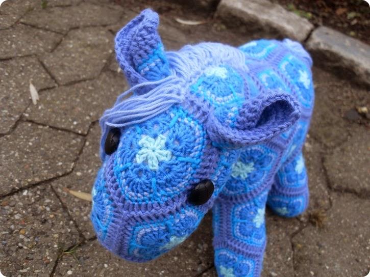 En blå hest