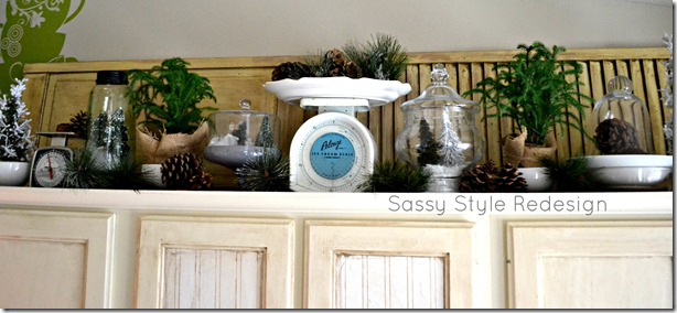 Sassy Style: DIY Above Kitchen Counters Christmas Decor