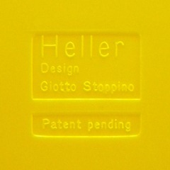 Stoppino record album/LP/storage rack for Heller, yellow alternate imprint