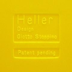 Stoppino record album/LP/storage rack for Heller, yellow alternate imprint