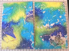 Art book April sea themed front back handmade paper covers 3. 2013