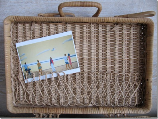 This vintage Rattan Picnic Basket is perfect to hold just about anything from art supplies to photographs. Charming interior woven band. Available at billy's bungalow!