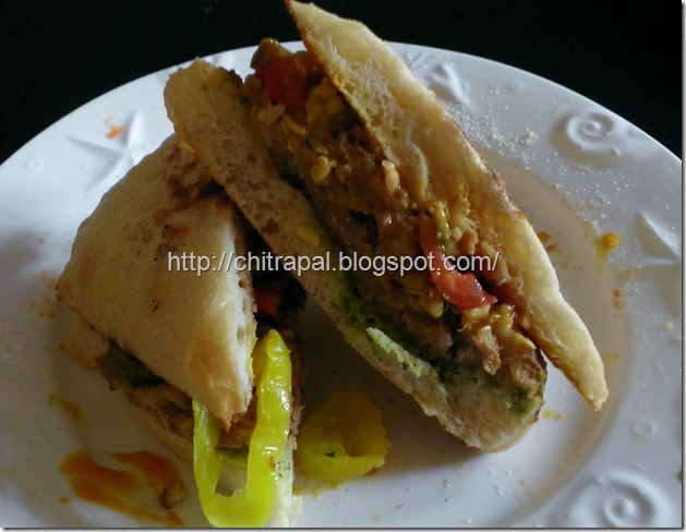 Chitra Pal Healthy Veggie Burger Sandwich