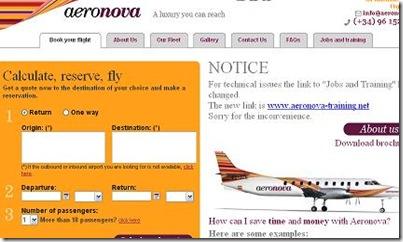 aeronova vuelos baratos privados en españa