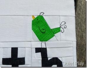 Paper pieced birdie