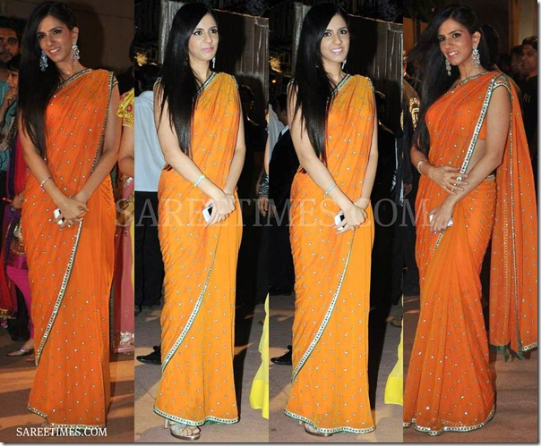 Nishika_Lulla_Orange_Saree