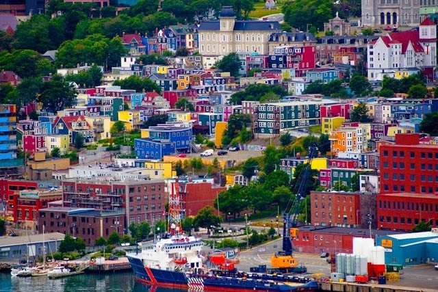 Jelly Bean Row in St. John's, Newfoundland, Canada