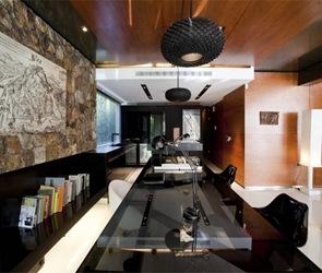 decoracion-lamparas-muebles-negros