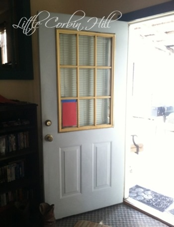 Painted door before