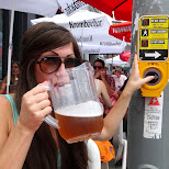 drinking beer at the Salsa Festival in Toronto in Toronto, Ontario, Canada