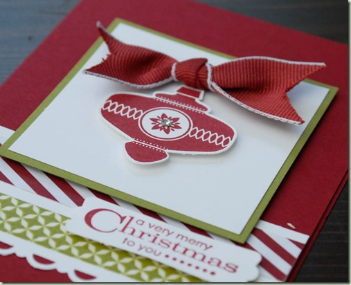 Stampin'Up! Christmas Colectables close up