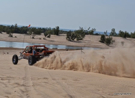 These guys really kick up the sand!