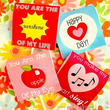 Printable Valentines Day Lollipop Covers