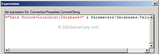 SSRS Connection String Dynamic