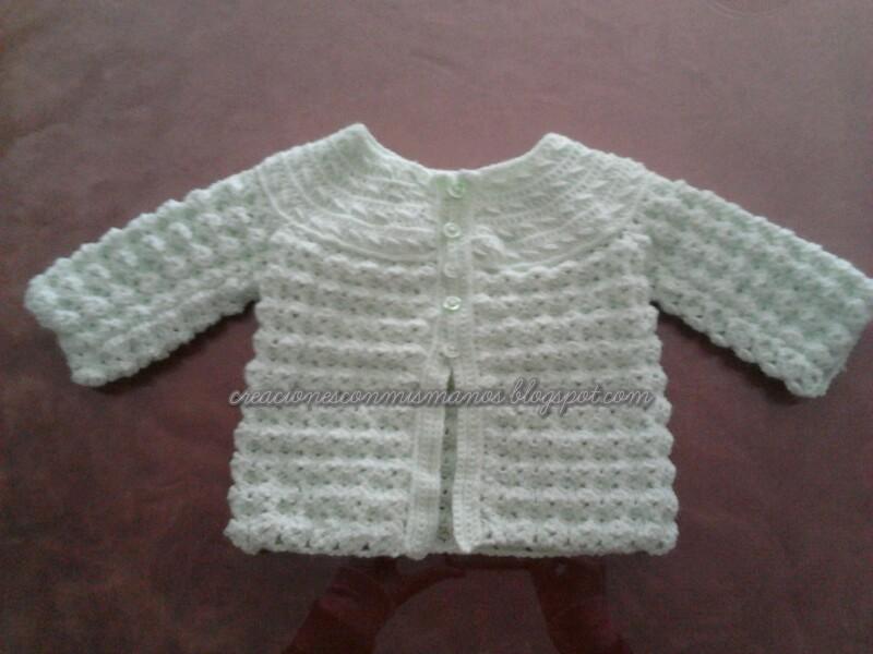 Manos de hadita: Conjunto a crochet bebé en verde agua