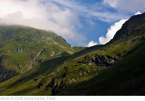 'Green mountain slopes under blue cloudy sky' photo (c) 2008, Horia Varlan - license: http://creativecommons.org/licenses/by/2.0/