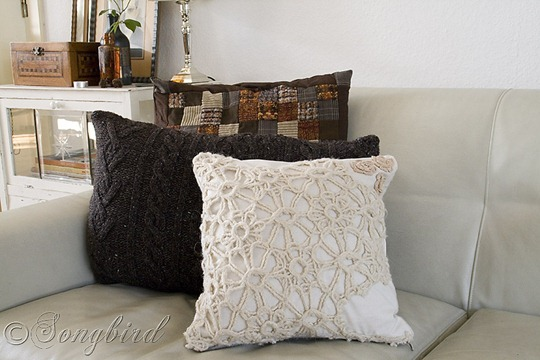Fall DIY Sweater Pillows 1