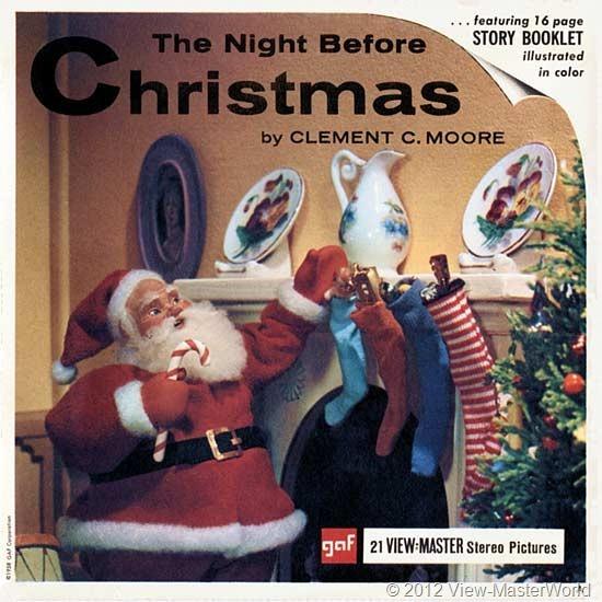 View-Master The Night Before Christmas (B382), Packet Cover