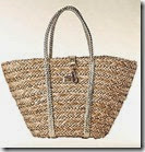 Straw Shopper with Gold Braided Handles