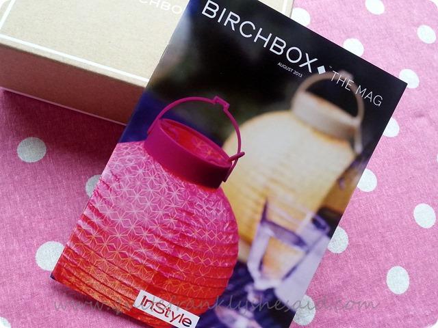 Birchbox August beauty box instyle  7 magazine