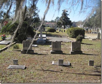 Gravestones Pendleton plot