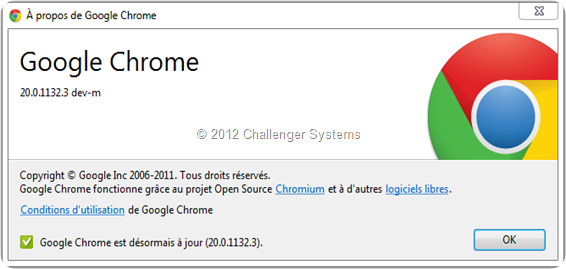 Google Chrome v20.0.1132.3