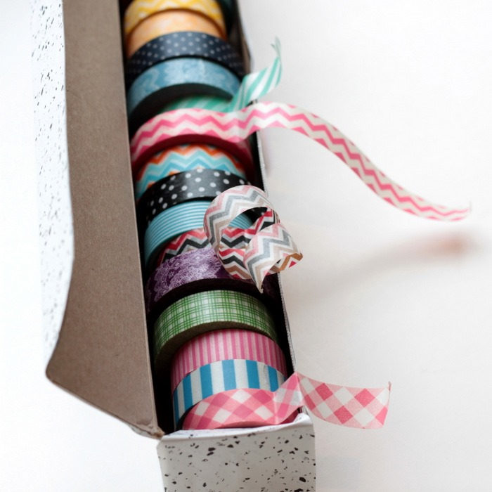 Wax Paper Box to Washi Tape Dispenser via homework (5)