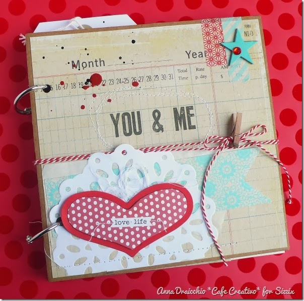 cafe creativo - Anna Drai - sizzix big shot - Mini album - Valentine (1)