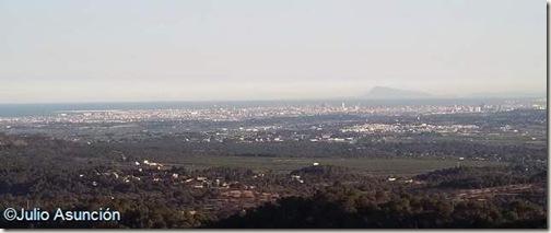 Panorámica de Valencia desde El Puntal dels Llops - Olocau