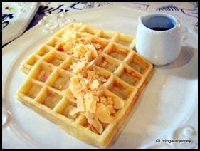 Restaurante Pia Y Damaso 21: bibingka waffle topped with kesong/quezong puti