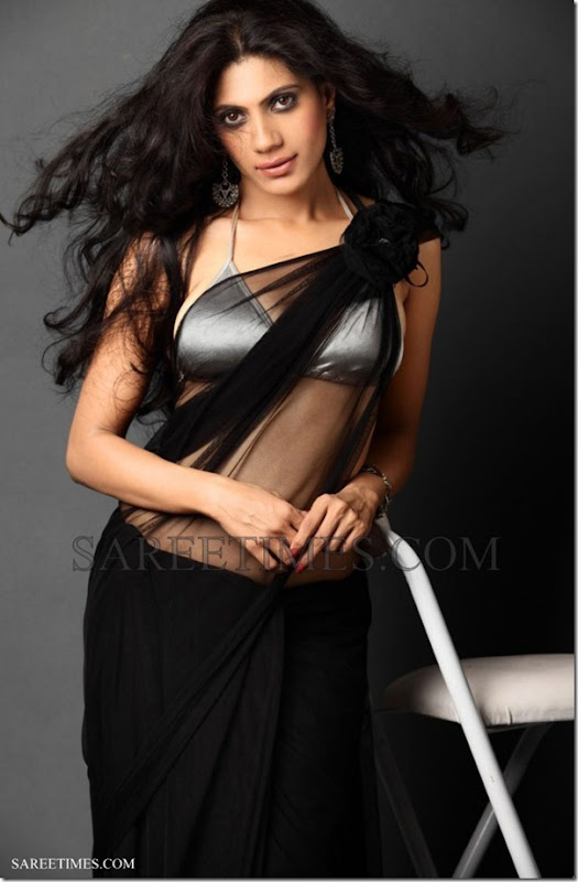 Rupali_Black_Saree