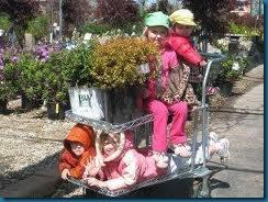 family at garden center