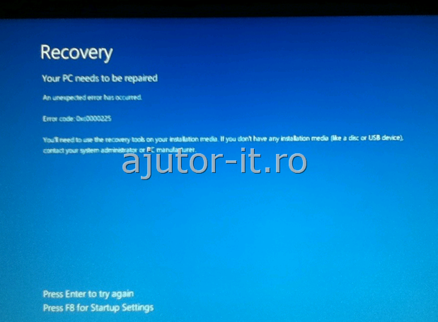 Windows 8 Error Code 0xc0000225