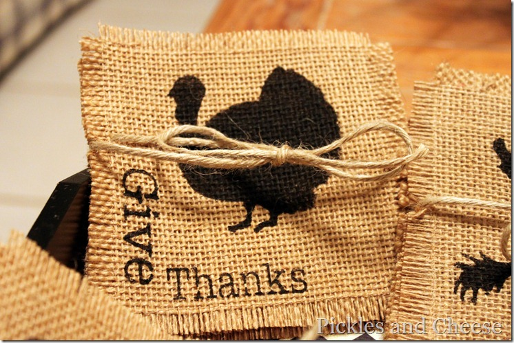 Burlap Coasters for Thanksgiving