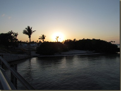 Bridge from Sunshine Key at Sunset