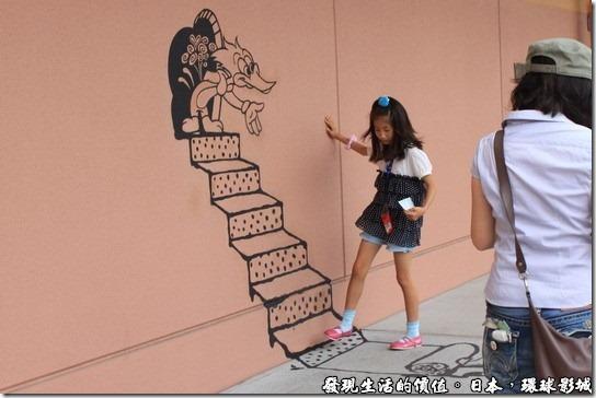 日本-環球影城,看我爬上唐老鴨的樓梯。