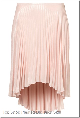 OP SHOP Pleated Dip Back Skirt