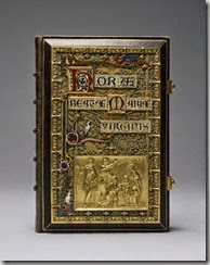 Gruel and Engelmann (French, active ca. 1841-1923). 'Binding for a Book of Hours,' 1870. black morocco leather, gilt on silver, enamels. Walters Art Museum (57.2167): Acquired by Henry Walters.