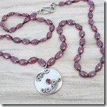 Garnet Hand Knotted Necklace