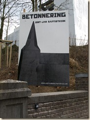 Kuttekoven, Kuttekovenstraat: een kerk betonneren: Kunst!