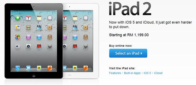 Harga iPad 2 turun RM300