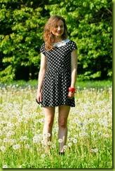 Standing in a dandelion meadow