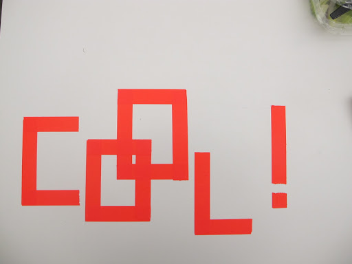 This great typeface is made using tape!.