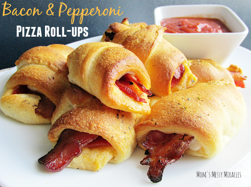 Bacon & Pepperoni Roll-ups