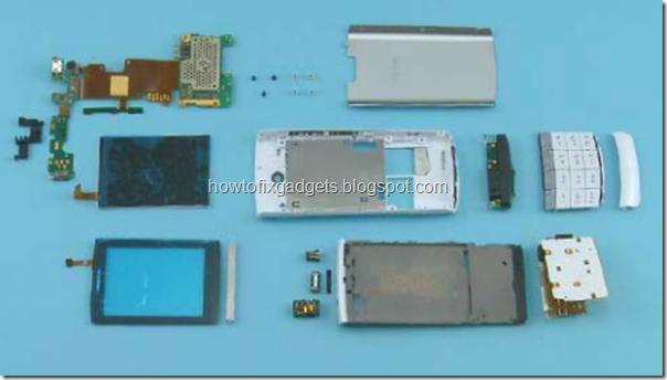 по разборке Nokia X3-02.