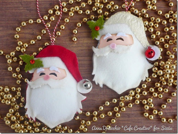 cafecreativo - sizzix big shot - christmas ornament - santa (1)