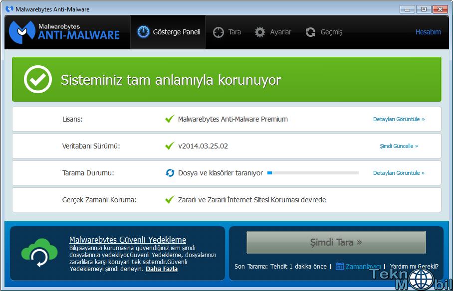 Malwarebytes Anti Malware Pro v2.0.2.1009 Türkçe Full