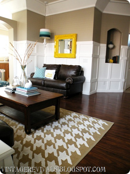Houndstooth-rug-DIY-living-room-makeovr