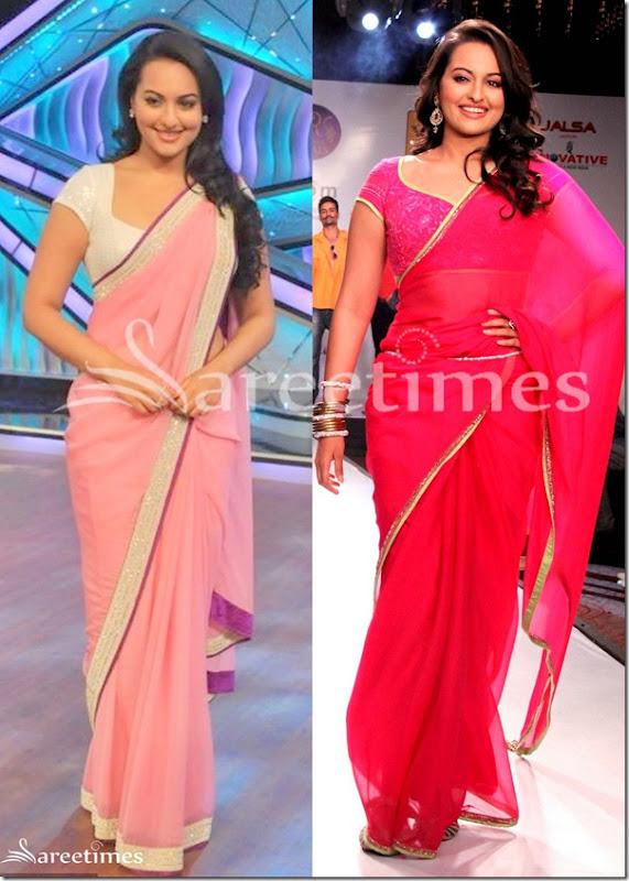 Sonakshi_Sinha_Pink_Sarees