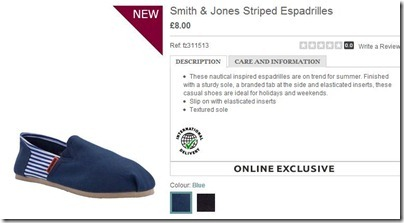 Smith & Jones Striped Espadrilles
